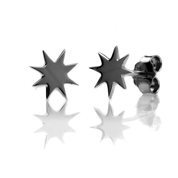 By Gabay Ildkugle ørestik, sort rhodineret sterlingsølv